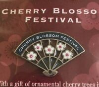 National Cherry Blossom Festival Collectible Lapel Pin NOS Fan