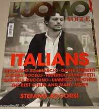 L'UOMO VOGUE MAGAZINE=2011/419=STEFANO ACCORSI=RICCARDO SCAMARCIO=ITALIANS=