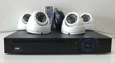 HD CVI 4 channel Security Camera System Kit 2.4MP 1080p HD CMOS 1080p DVR 1TB
