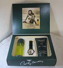3er Set 100 ml. EDT,200ml Shower Gel und Space Uhr  Space for Men Cathy Carden