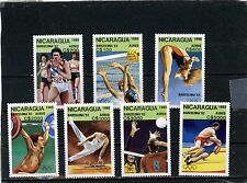 NICARAGUA 1989 été JEUX OLYMPIQUES BARCELONA Jeu de 7 TIMBRES MNH