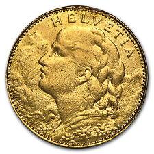 1911-1922 Switzerland Gold 10 Francs Avg Circ (Random) - SKU #50931
