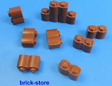 LEGO® 1x2 GRUNDBAUSTEIN Palisade braun / 10 Stück