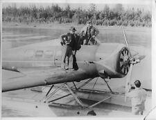 1935 press photo Wiley Post Lockheed Vega Electra Will Rogers