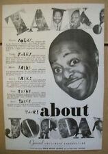 Louis Jordan 1945 Ad- theater trade movie record song talk General Amusement