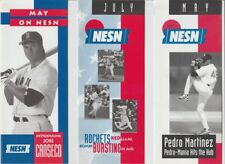 8 Boston Red Sox Schedule Brochures Roger Clemens Pedro Martinez Jose Canseco +