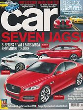 CAR MAGAZINE UK FEB 2014,SEVEN JAGS ! 3-SERIES RIVAL LEADS MEGA NEW MODEL CHARGE