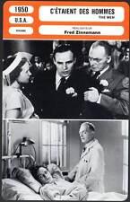 C'ETAIENT DES HOMMES - Brando,Zinnemann (Fiche Cinéma) 1950 - The Men