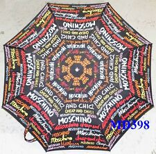 Moschino Cheap & Chic AUTO Umbrella Multi-Color Rain Sunny Women Lady Gift NEW