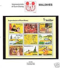 MALDIVES # 1827 DISNEY MICKEY'S IMPRESSIONISTS EURO