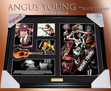 NEW!! ANGUS YOUNG ACDC ROCK LEGEND MEMORABILIA SIGNED FRAME;LIMITED EDITION COA