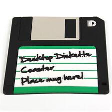 Disquette retro dessous de verre nouveau en pvc vinyl floppy disc coaster