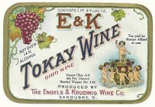 Early E & K  Tokay Wine Ohio Wine Label  Engels & Krudwig Wine Co. Sandusky,Oh.