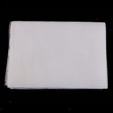 White Blank Rug Hooking Mesh Canvas Latch Hook Rug Cloth Crafts 40x60inch