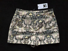 M Missoni Black & Grey Patterned Shorts Womens Size 40 Small 4 *NEW* Authentic