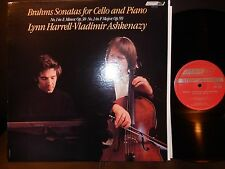 Harrell/Ashkenazy Brahms Sonatas for Cello and Piano LP London CS 7208, NM