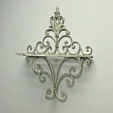Shabby Chic Vintage Style Sconce Wall Shelf Display Metal Rack Bathroom Kitchen