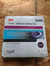 3m Trizact Hookit 5 Clear Coat Sanding Disc 02095 P1500 25pcsbox