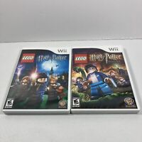 Lot Of (2) LEGO Harry Potter Years 1-4 & 5-7 (Nintendo Wii, 2006) Both Complete