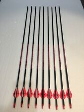 9 BloodSport PINK Athena Carbon Hunting Arrows 500 Up To 55 lbs Blazers