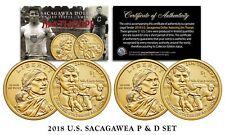 2018 US ungebraucht Indianer Jim Thorpe Dollar Sacagawea Münze Set - beide P&d