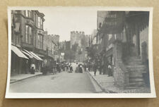 Castle Street Conway Wales Real Photographic Postcard