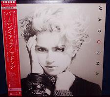 """MADONNA """"Madonna"""" rare 1983 Japan Lp w/Obi & insert pin up & lyrics"""