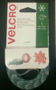 (2 PACK) VELCRO Brand Holiday Christmas Decor Wrap Ribbon, 10 x 3/4 (Green)