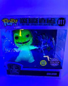 Nightmare Before Christmas Oogie Boogie w Wheel GITD SE Funko Pop Deluxe 811