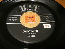 FRED HESS - COUND ME IN - YOU'RE NOT THE SAME NOW   / LISTEN - SOUL POPCORN