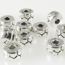 10 Metallperlen Spacer Zwischenperlen für Lederband European Bead 8mm silber 100