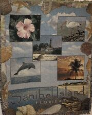 "New `Sanibel Island Florida` Tapestry Throw Blanket 48"" X 60"" Same-Day Shipping"