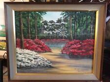 "Vintage Original Oil Painting of Azalea, Betty Stevens Haines, 23""X19.25"""