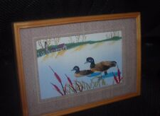Duck Framed Art with Real Bird Feathers  3D Wild Ducks Framed Picture Vintage?