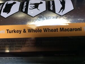 2 Cans,  Just Food For Dogs Turkey & Whole Wheat Macaroni DIY Nutrient Kit
