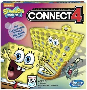 Connect 4 SpongeBob Squarepants  Hasbro Board Game  with a Twist - Nickelodeon