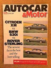 AUTOCAR MAGAZINE 16-AUG-89 - Citroen XM, Rover Sterling, Audi Coupe, BMW 530i