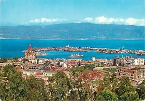 Postcard Italy Messina panoramic view