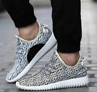Mens Yeezy Style Boost Gym Trainers Fitness Sports Running Casual Shoes White