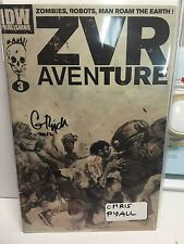zvr aventure #3 signed chris ryall zombies robots man roam the earth 2nd print