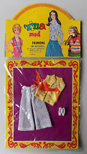 """VINTAGE - TINA MOD FASHIONS MINI-OUTFIT -  6,5"""" PUPPE - TOPPER DAWN CILLY CLONE"""