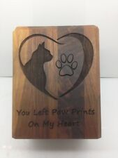 cat urn solid walnut laser engraved 37 cubic inch