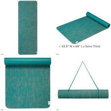 "Evolve by GAIAM Jute Yoga Mat 5mm 68"" 23.5"" #03-63545 FREE YOGA STRAP"