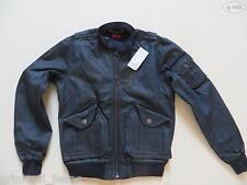 Levi's® Biker Jacke Jeansjacke Gr. M, blau-schwarz, NEU ! Dark Denim, Coated !