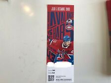 Unused Montreal Canadians tickets featuring Jordan Weal 5 dec