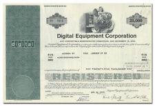 Digital Equipment Corporation Stock Certificate
