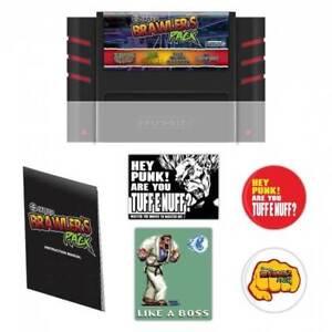 Retro-Bit 4 in 1 SNES Game Jaleco Brawlers Pack for SNES 16 Bit Cartridge System