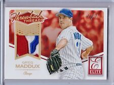 Greg Maddux 3 Color Patch Card Stamped numbered 1/1 2015 Panini Elite True 1/1.