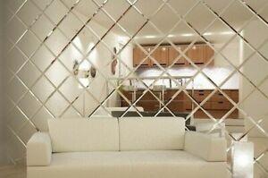 Mirror bevelled wall tiles / Bathroom-kitchen splashback tiles, bevel edge glass
