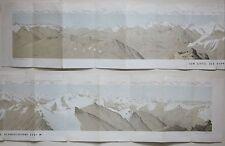 1872 PANORAMA DAL SCHWARZHORNS Punta Marani Weisshorn Rosa Mischabel Alpi Alpen